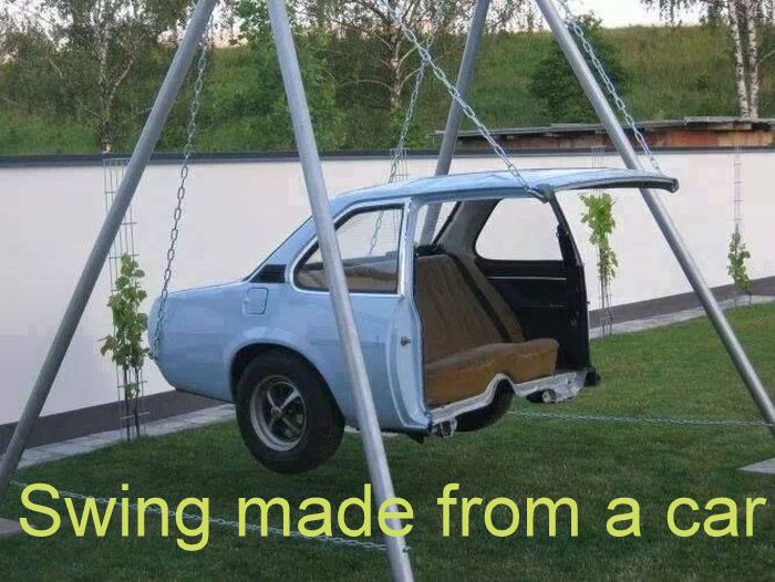 Swing made from a car_3