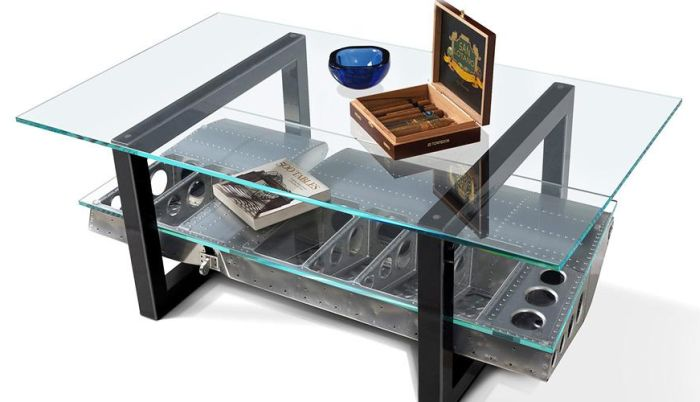 Aileron Coffee Table from Aircraft Wing Ailerons