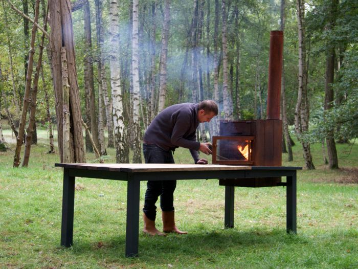 Stovetable fireplace and dining table_1