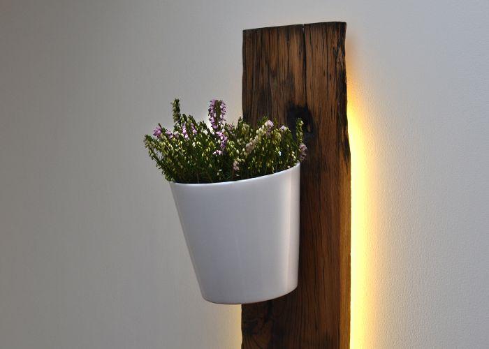 Backlit French Wagon Oak Vertical Planter_2