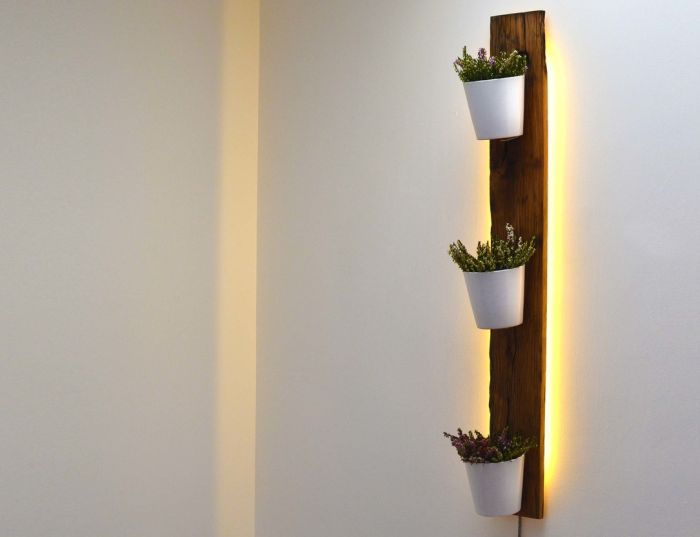 Backlit French Wagon Oak Vertical Planter_4