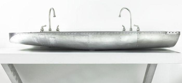 Stratotanker sink created from KC-97 front landing gear door_3