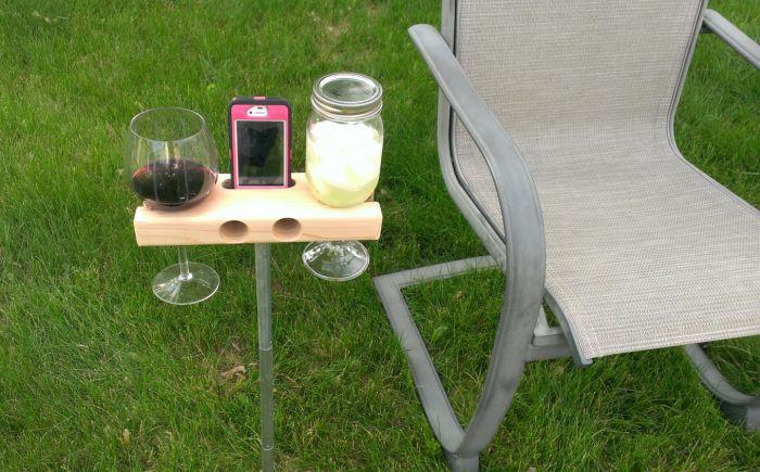 Wine Glass Holder and Smartphone Dock Speaker_3