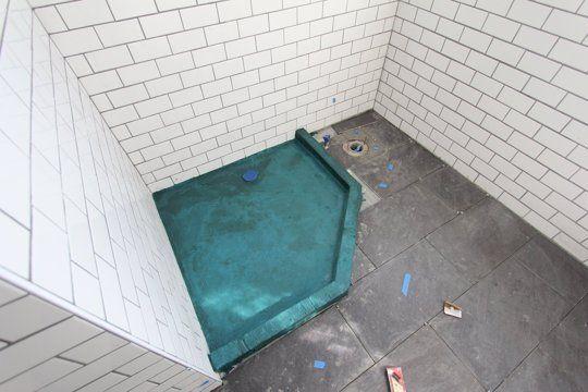 A custom shower base
