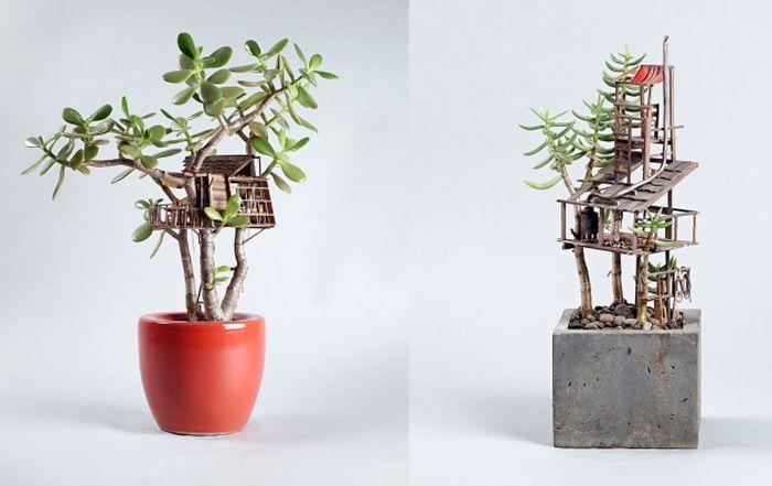 Jedediah Corwyn Voltz Treehouse Sculptures-1