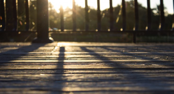 wooden deck sunlight