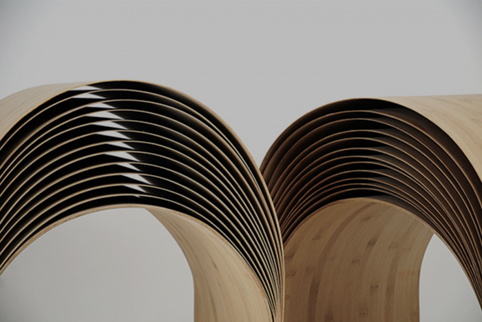 veneer of bamboo stool