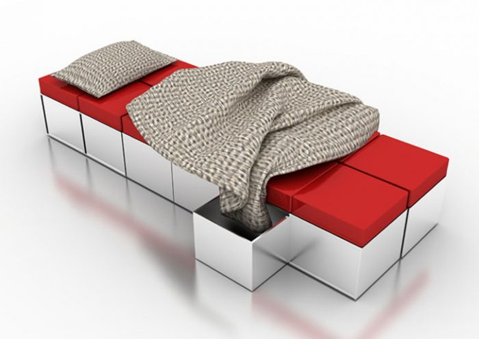 multipurpose furniture transforms into bed