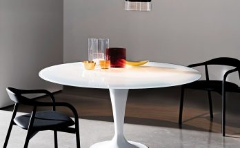glass tulip dining table