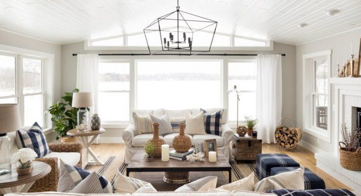 hampton style living room